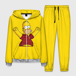 Костюм мужской Гомер-болельщик цвета 3D-меланж — фото 1