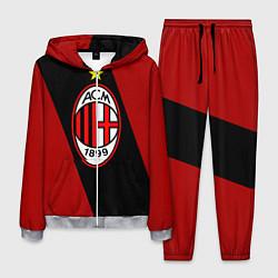 Костюм мужской Milan FC: Red Collection цвета 3D-меланж — фото 1