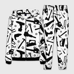 Костюм мужской Строитель 7 цвета 3D-черный — фото 1