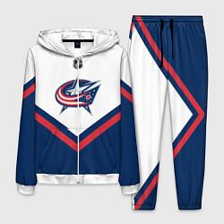 Костюм мужской NHL: Columbus Blue Jackets цвета 3D-белый — фото 1