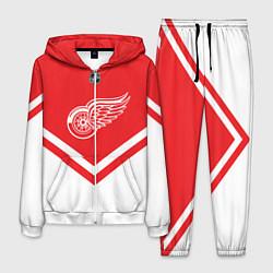 Костюм мужской NHL: Detroit Red Wings цвета 3D-белый — фото 1