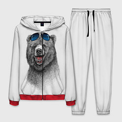Костюм мужской Счастливый медведь цвета 3D-красный — фото 1