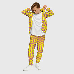 Костюм мужской Пончики Гомера Симпсона цвета 3D-белый — фото 2
