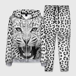 Костюм мужской Белый леопард цвета 3D-меланж — фото 1