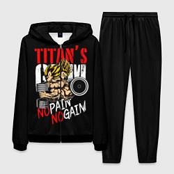 Костюм мужской Titans Gym цвета 3D-черный — фото 1