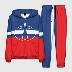 Костюм мужской Флаг космический войск РФ цвета 3D-красный — фото 1