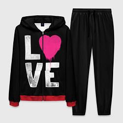 Костюм мужской Love Heart цвета 3D-красный — фото 1