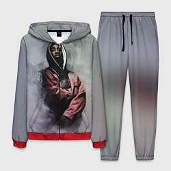 Костюм мужской Shakur Rap цвета 3D-красный — фото 1