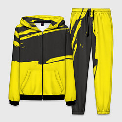 Костюм мужской Чёрно-жёлтый цвета 3D-черный — фото 1
