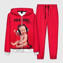 Костюм мужской Paparoach: Music Kid цвета 3D-белый — фото 1