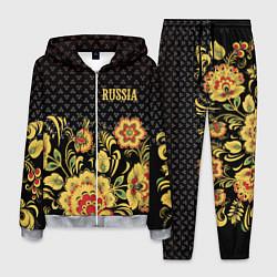Костюм мужской Russia: black edition цвета 3D-меланж — фото 1