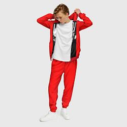 Костюм мужской Dethklok: Knitting factory цвета 3D-красный — фото 2
