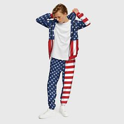 Костюм мужской Флаг США цвета 3D-красный — фото 2
