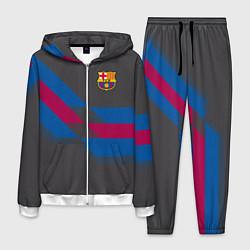 Костюм мужской Barcelona FC: Dark style цвета 3D-белый — фото 1