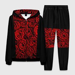 Костюм мужской Унисекс / Красные розы цвета 3D-черный — фото 1