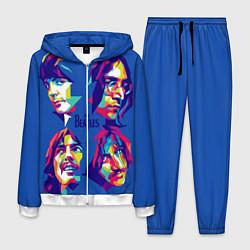 Костюм мужской The Beatles: Faces цвета 3D-белый — фото 1