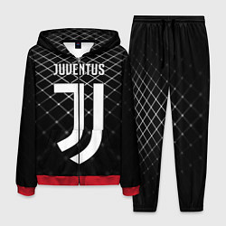 Костюм мужской FC Juventus: Black Lines цвета 3D-красный — фото 1