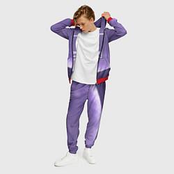 Костюм мужской Pantone: Ultra Violet Space цвета 3D-красный — фото 2