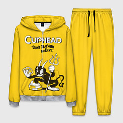 Костюм мужской Cuphead: Black Devil цвета 3D-меланж — фото 1