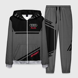 Костюм мужской Audi: Crey & Black цвета 3D-меланж — фото 1