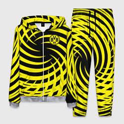 Костюм мужской FC BVB: Yellow Vortex цвета 3D-меланж — фото 1