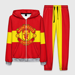 Костюм мужской FC Man United: Red Style цвета 3D-меланж — фото 1
