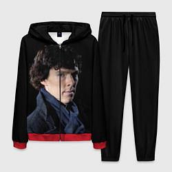 Костюм мужской Sherlock цвета 3D-красный — фото 1