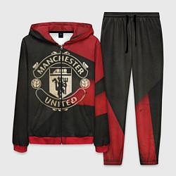 Костюм мужской FC Man United: Old Style цвета 3D-красный — фото 1