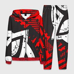 Костюм мужской Grunge Art цвета 3D-красный — фото 1