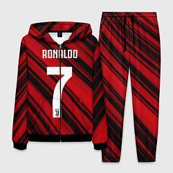 Костюм мужской Ronaldo 7: Red Sport цвета 3D-черный — фото 1