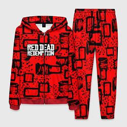 Костюм мужской Red Dead Redemption 2 цвета 3D-красный — фото 1