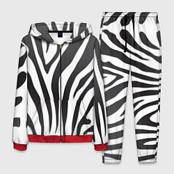 Костюм мужской Африканская зебра цвета 3D-красный — фото 1
