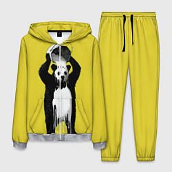 Костюм мужской Панда-маляр цвета 3D-меланж — фото 1