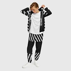 Костюм мужской Off-White: Black Style цвета 3D-белый — фото 2