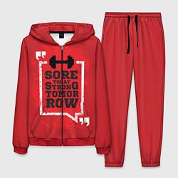 Костюм мужской Strong tomorrow цвета 3D-красный — фото 1