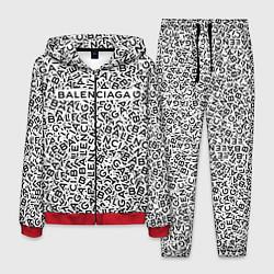 Костюм мужской Balenciaga: Grey Words цвета 3D-красный — фото 1