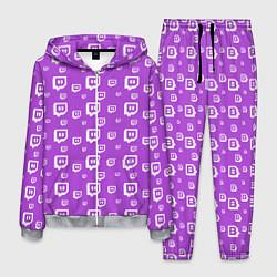 Костюм мужской Twitch: Violet Pattern цвета 3D-меланж — фото 1