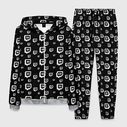 Костюм мужской Twitch: Black Pattern цвета 3D-меланж — фото 1