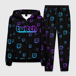 Костюм мужской Twitch: Neon Style цвета 3D-черный — фото 1