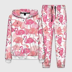 Костюм мужской Рай фламинго цвета 3D-белый — фото 1