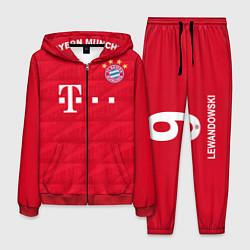 Костюм мужской FC Bayern: Lewandowski Home 19-20 цвета 3D-красный — фото 1