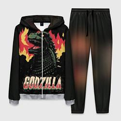 Костюм мужской Flame Godzilla цвета 3D-меланж — фото 1