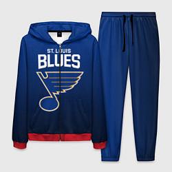 Костюм мужской St Louis Blues цвета 3D-красный — фото 1