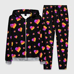 Костюм мужской LIKEE - Сердечки цвета 3D-меланж — фото 1