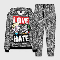 Костюм мужской Love Hate цвета 3D-черный — фото 1