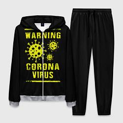 Костюм мужской Warning: Corona Virus цвета 3D-меланж — фото 1