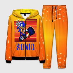 Костюм мужской Sonic - Соник цвета 3D-черный — фото 1