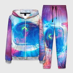 Костюм мужской Космонавт - космос цвета 3D-меланж — фото 1