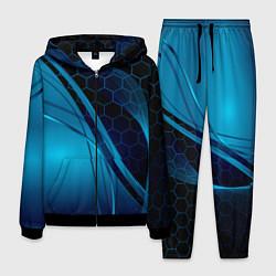 Костюм мужской ABSTRACT BLUE цвета 3D-черный — фото 1