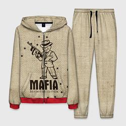 Костюм мужской Mafia 2 цвета 3D-красный — фото 1